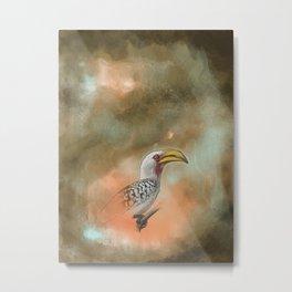 Big World for a Hornbill Metal Print