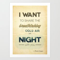 Air of the night Art Print