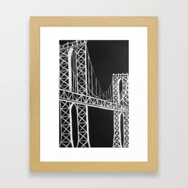 No. 59 Brooklyn Bridge  Framed Art Print
