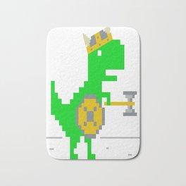 8-Bit-Viking-T-Rex Bath Mat