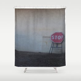 Stop. Breathe. And let it go ... Shower Curtain