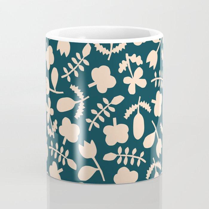 Floral Vase | Blue, Red, + Peach Coffee Mug
