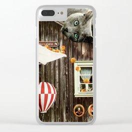 Swedish Cat Clear iPhone Case