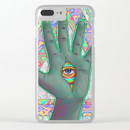 Psychedelic Hand Clear iPhone Case