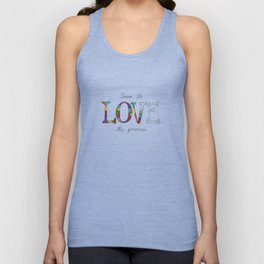 Learn To Love The Process Unisex Tank Top