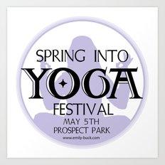 Spring Into Yoga! Art Print