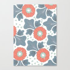 Flowers & Leaves Canvas Print