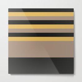 The bee theme | pattern | black bright brown yellow stripes Metal Print