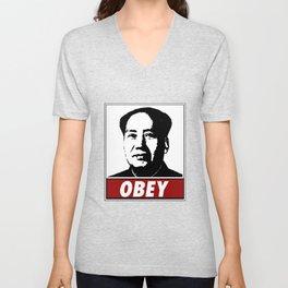 Mao Zedong Obey Unisex V-Neck
