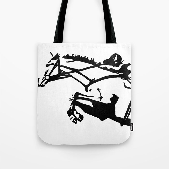 jumping horse Tote Bag
