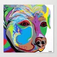 rottweiler Canvas Prints featuring Rottweiler by EloiseArt