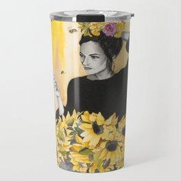 Sunflowers & Honey Bees Travel Mug