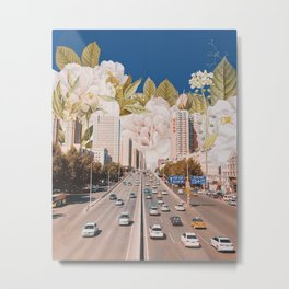 City of White Flowers Metal Print
