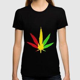 Rasta Leaf Smokin Dub Reggae Weed Dancehall Dubstep Skunk Marijuana Weed T-Shirts T-shirt