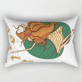 Girl and fish Rectangular Pillow