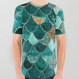 REALLY MERMAID All Over Graphic Tee