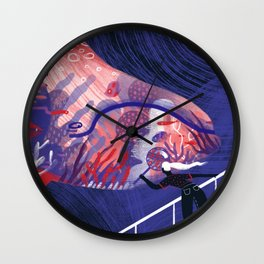 Key to the Ocean Wall Clock