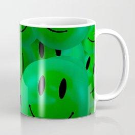 Fun Cool Happy green Smiley Faces Coffee Mug