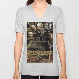 Handcrafted Tin And Copper Kitchenwares Unisex V-Neck