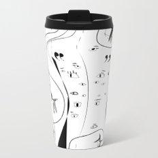 Eyes on my back - Emilie R. Metal Travel Mug