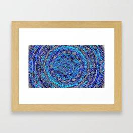 Blue spin Framed Art Print