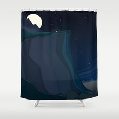 fairy landscape (at night) Shower Curtain
