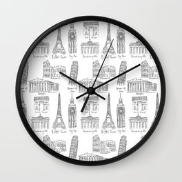 Europe at a glance Wall Clock