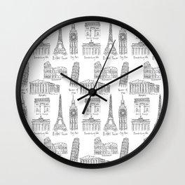 Europe at a glance Wall Clock