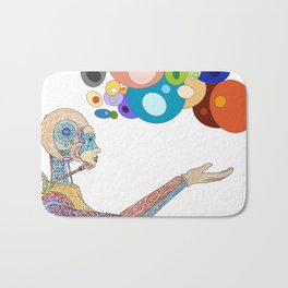 Inspired by technology and the illusion of time Bath Mat