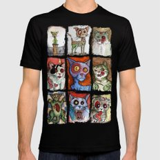 9 zombie cats Mens Fitted Tee Black MEDIUM