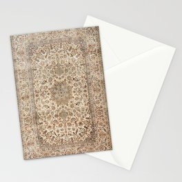 Isfahan Central Persia Old Century Authentic Colorful Dusty Blue Tan Distressed Vintage Patterns Stationery Cards