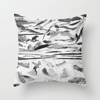 sand Throw Pillows featuring Sand  by Jihan Mv