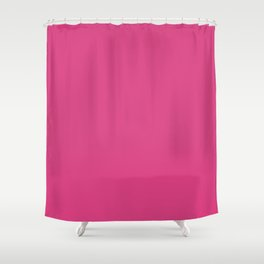 Fandango Pink   Solid Colour Shower Curtain