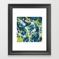 Color Commentary #21: O Negative (Cadaver Blue & Putrid Yellow) [Byron Rempel] Framed Art Print