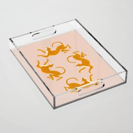 Leopard Race - pink Acrylic Tray