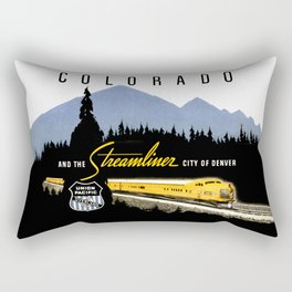 Union Pacific Train poster 1936 - Retouched Version Rectangular Pillow