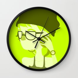 "Color Girl Series: ""Olive"" Wall Clock"