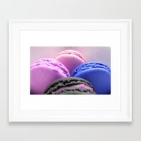 macaroons Framed Art Prints featuring macaroons by WhimsyRomance&Fun