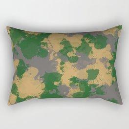 Camo Paint Splatter Rectangular Pillow