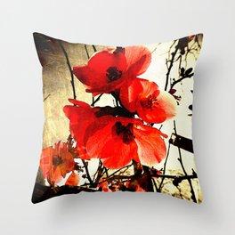 Spring Red 3, Royal Botanical Gardens - Melbourne Throw Pillow