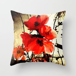 Spring Red 3, Royal Botanical Gardens - Melbourne Throw Pillow