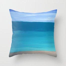 Abstract Sea Throw Pillow