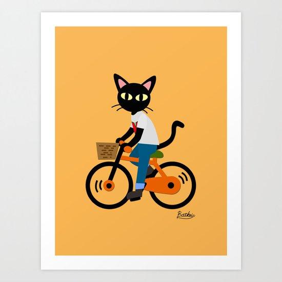 Summer cycling Art Print