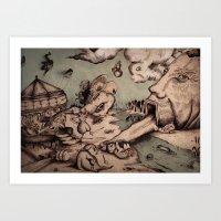 Deadly Sins Valley Art Print