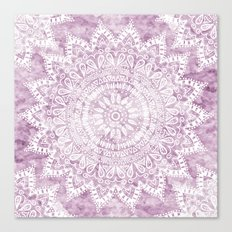 BOHEMIAN FLOWER MANDALA IN PINK Canvas Print