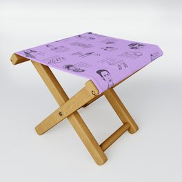 Gilmore Girls Quotes in Purple Folding Stool