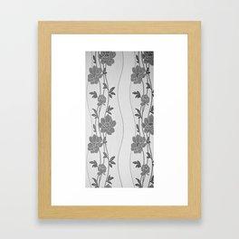 carves of flowers Framed Art Print