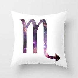 Scorpio Zodiac Symbol Throw Pillow
