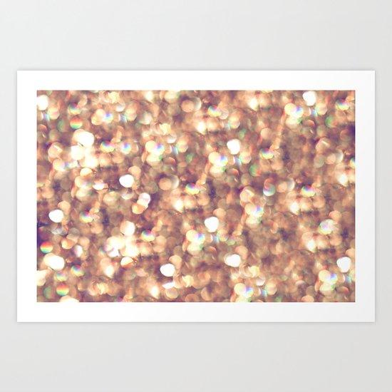 glitter and shine Art Print