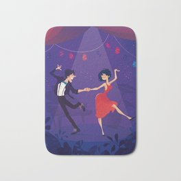 Dancing night couple Bath Mat